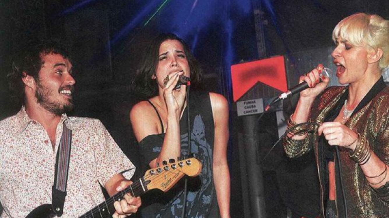 Florencia Torrente y Romina Gaetani rockearon con Benjamín Rojas. (Foto: Caras)