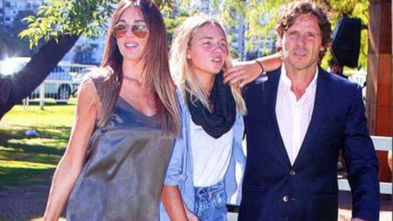 Josefina Bocchino con Andrea Frigerio y Lucas Bocchino. (Foto: revista ¡Hola! Argentina)