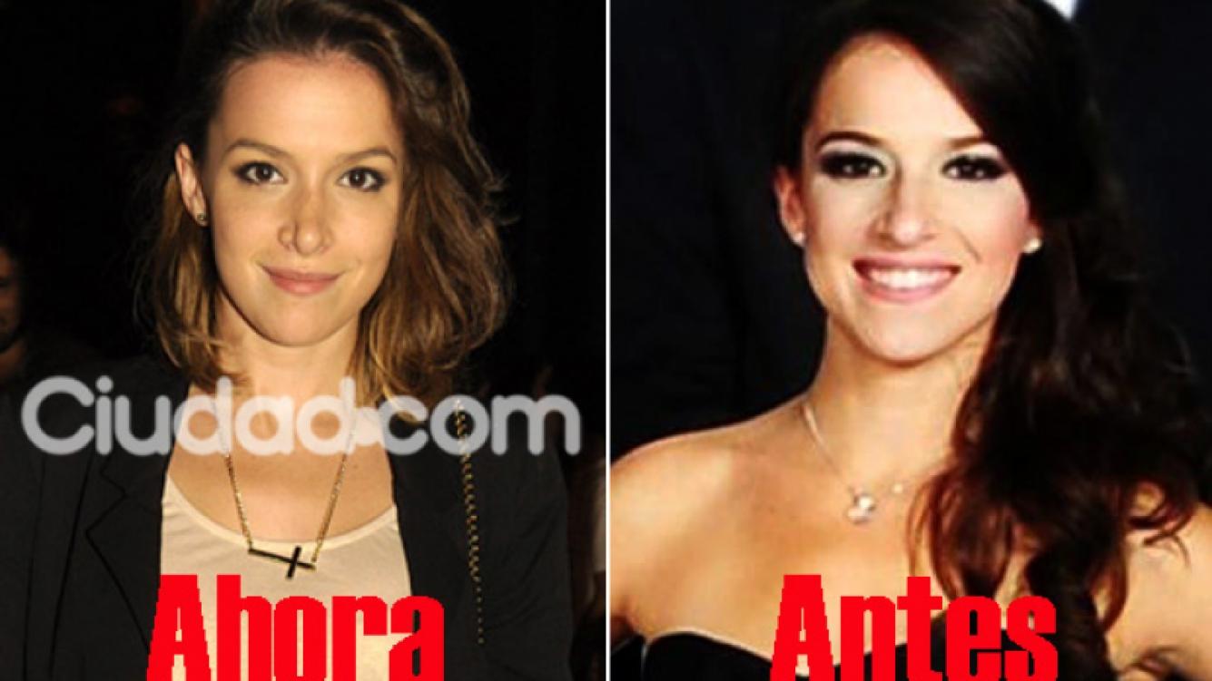 El cambio de Sofía Pachano tras operarse la nariz. (Fotos: Ciudad.com y archivo Web)