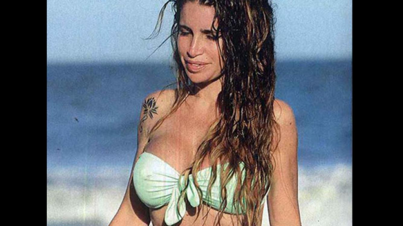 Florencia Peña descansó en Cariló. (Foto: revista Gente)