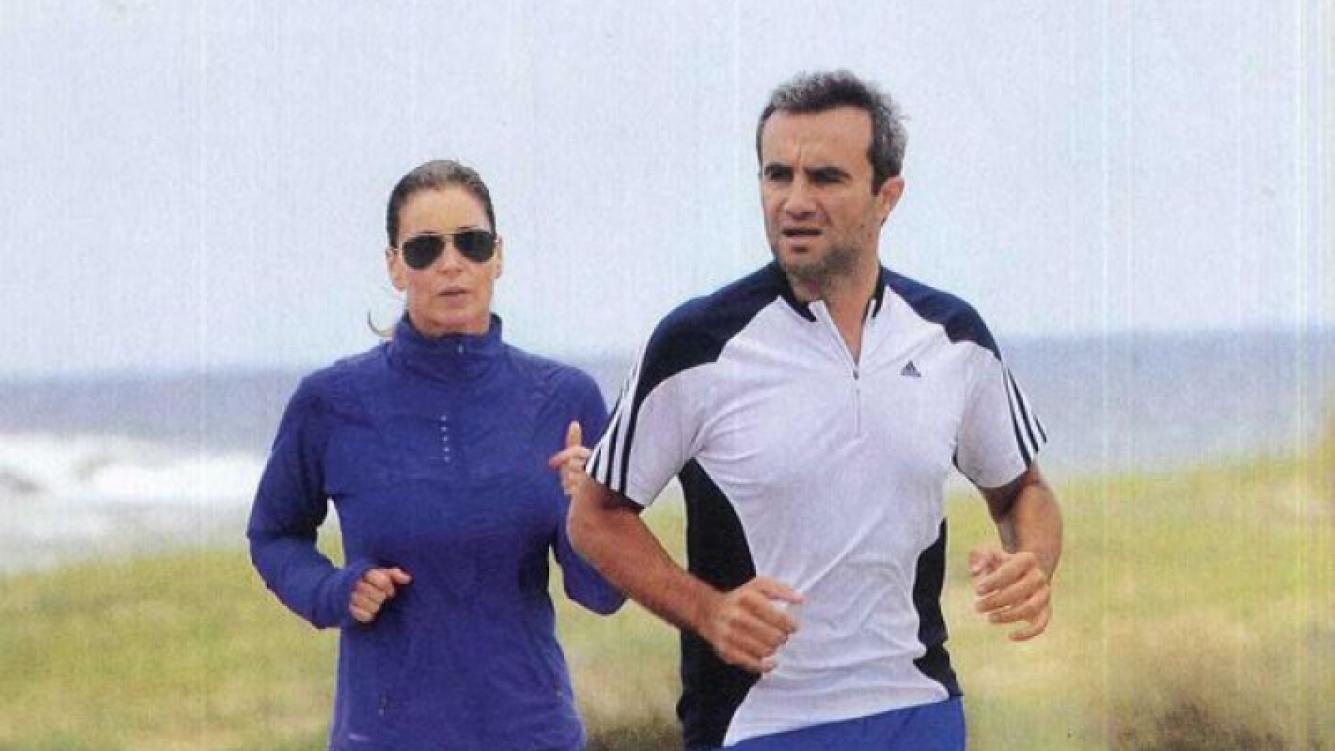 Karina Mazzocco y su marido Omar El Bacha. (Foto: revista Caras)
