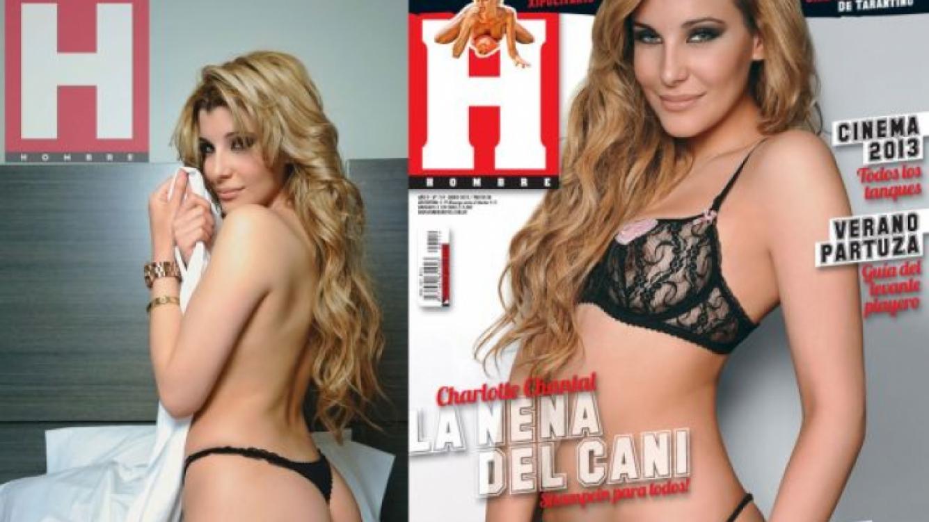 Charlotte Caniggia en revista Hombre.