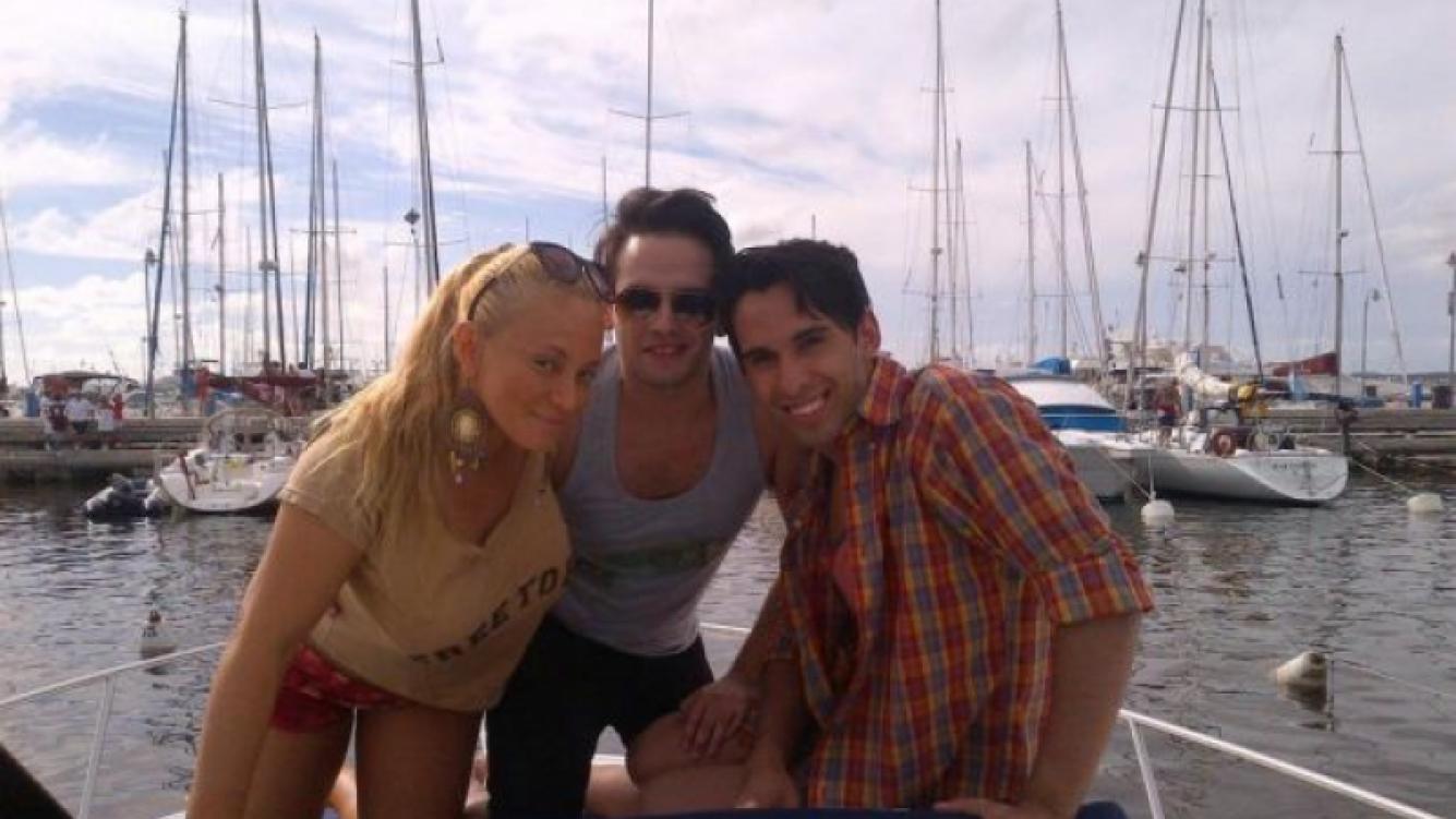 Ritó, su marido y amigos disfrutan de Punta del Este (Foto: Twitter).