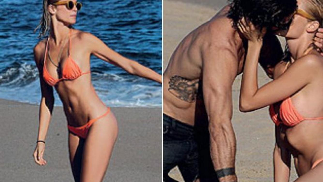 Liz Solari y Nacho Ricci, enamorados. (Fotos: revista Gente)