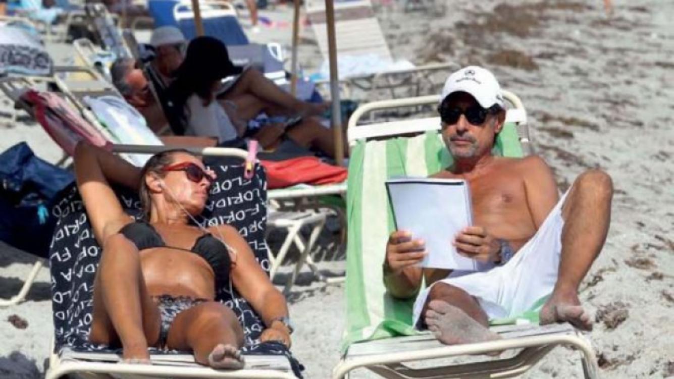 Marynés Breña y Guillermo Francella de vacaciones en Miami. (Foto: revista Gente)