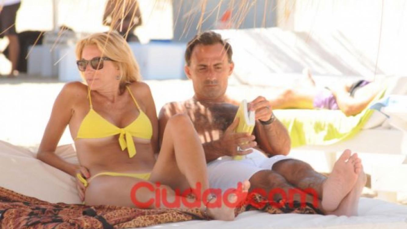 Yanina y Diego Latorre disfrutan de sus vacaciones en Punta del Este (Foto: Ciudad.com).