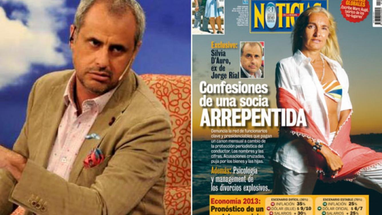 """La tapa de la revista Noticias con una nota a la ex de Rial: """"Confesiones de una socia arrepentida"""". (Fotos: Web y Noticias)"""
