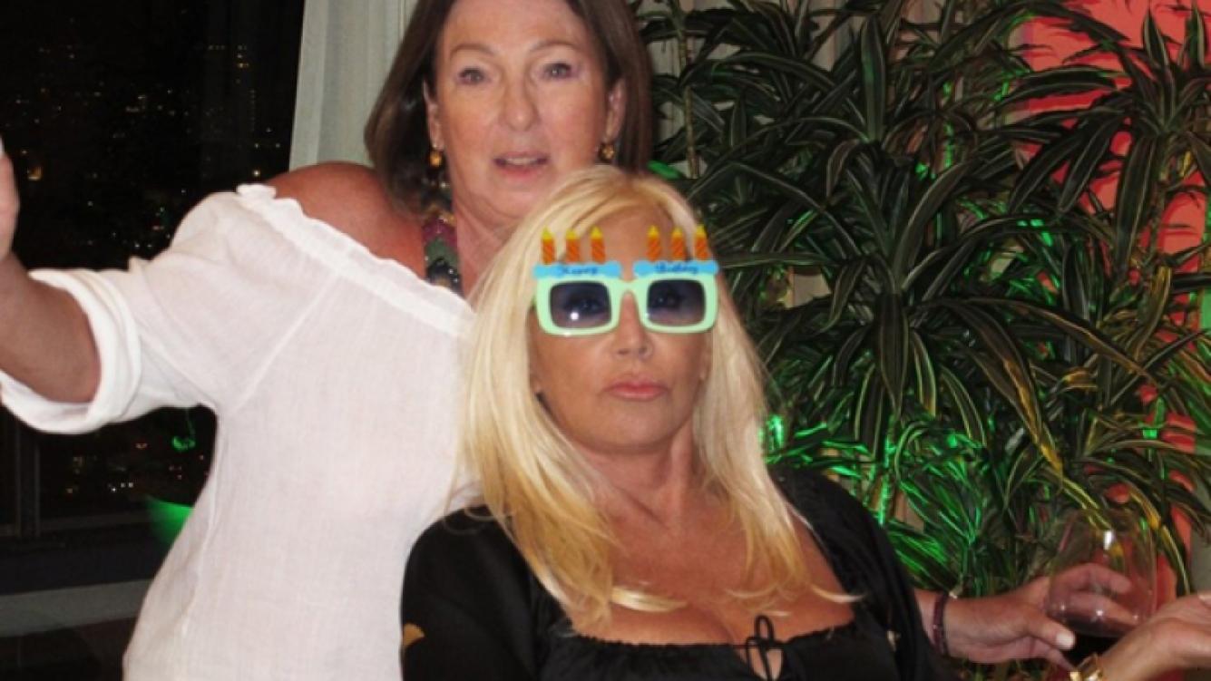 Susana en su divertido festejo (Foto: gentileza Hotel Conrad).