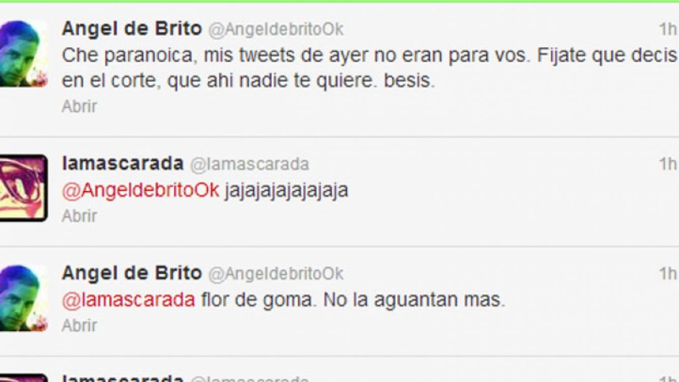 El tweet de la polémica: la frase que publicó Angel en su Twitter (Foto: Captura de pantalla).