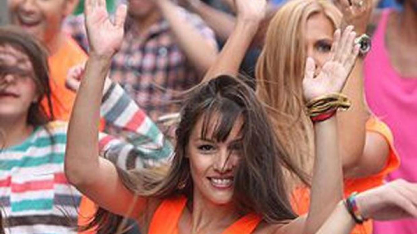 Pampita grabó la promo de Baila!, que marca su regreso al trabajo (Foto: Glamorama.cl).