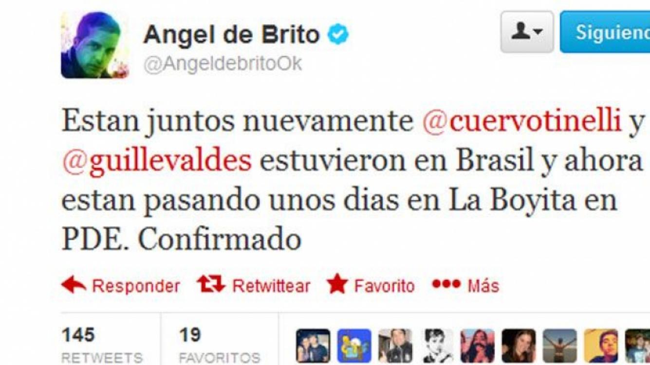 El tweet de Angel de Brito con #labomba. (Captura: @AngeldebritoOk)