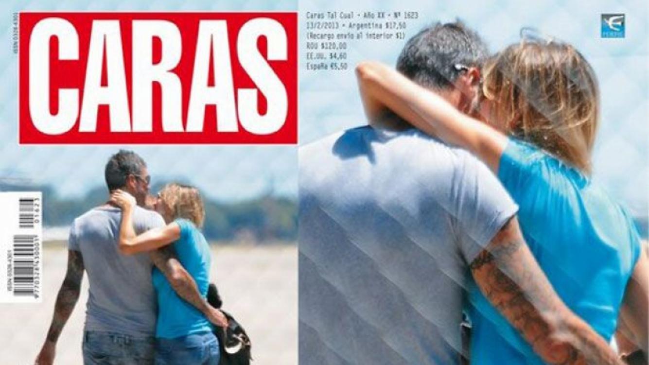Marcelo Tinelli y Guillermina Valdés, enamorados rumbo a Punta (Foto: Caras).