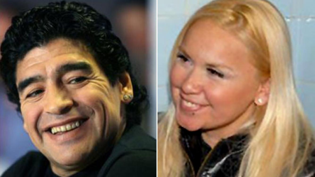 Diego Maradona y Verónica Ojeda. (Fotos: archivo Web)