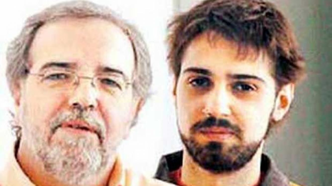 Eduardo Aliverti y su hijo Pablo García. (Foto: Clarin.com)