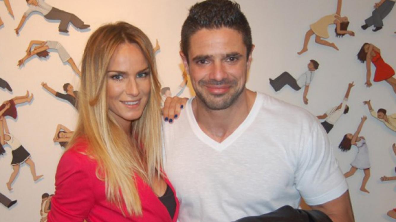 """Sabrina Rojas y Luciano Castro, """"embarazados"""" (Foto: Web)."""