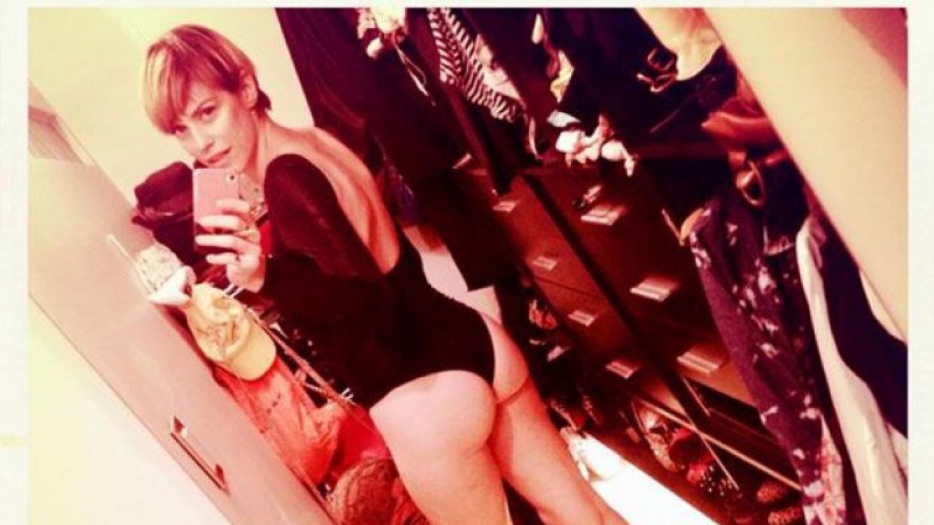 Connie Ansaldi sorprendió a los twitteros al publicar una foto en ropa interior (Foto: Twitter).