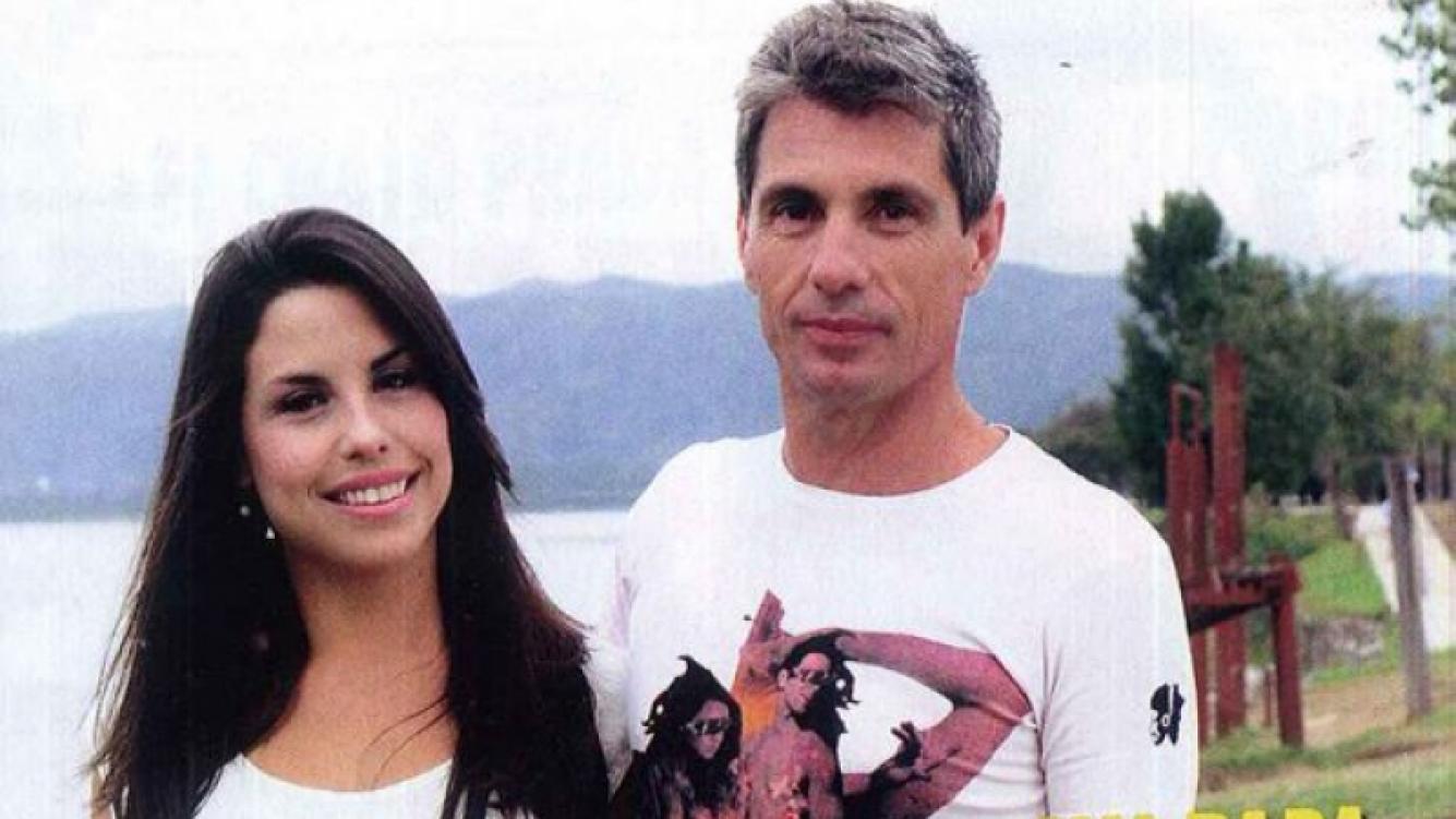 El Chato Prada, junto a su hija Florencia. (Foto: revista Pronto)