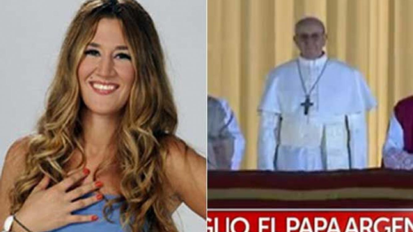 Jimena Barón está en Roma, muy cerquita del nuevo Papa Bergoglio. (Fotos: Web y Captura TN.com.ar)