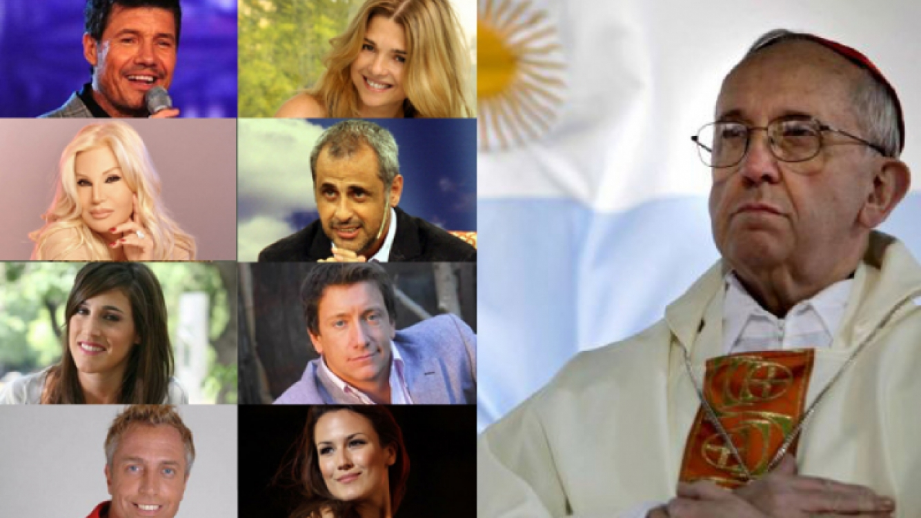 Tinelli, Araceli, Susana, Rial, La Sole, Nico Vázquez, Marley y Luli Fernández. ¡Papa argentino!