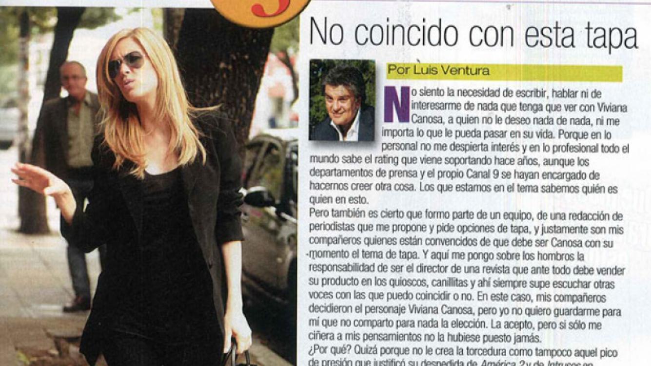 La polémica columna editorial de Luis Ventura (Foto: Paparazzi).