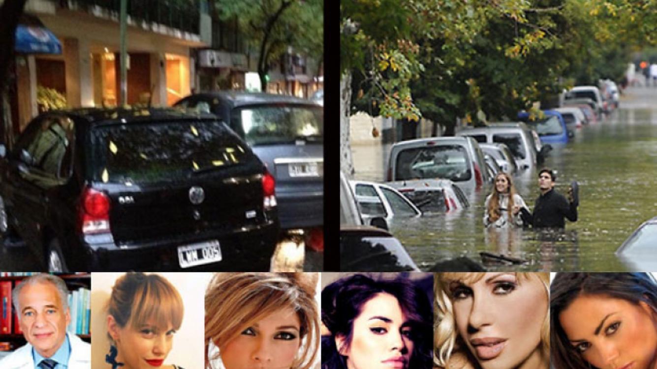 Los mensajes de los famosos afectados por el fuerte temporal