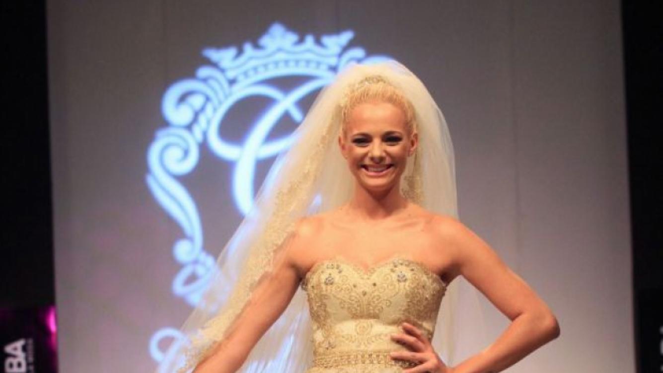 Jimena Campisi, divina con su vestido de novia (Foto: Prensa Veroutis).