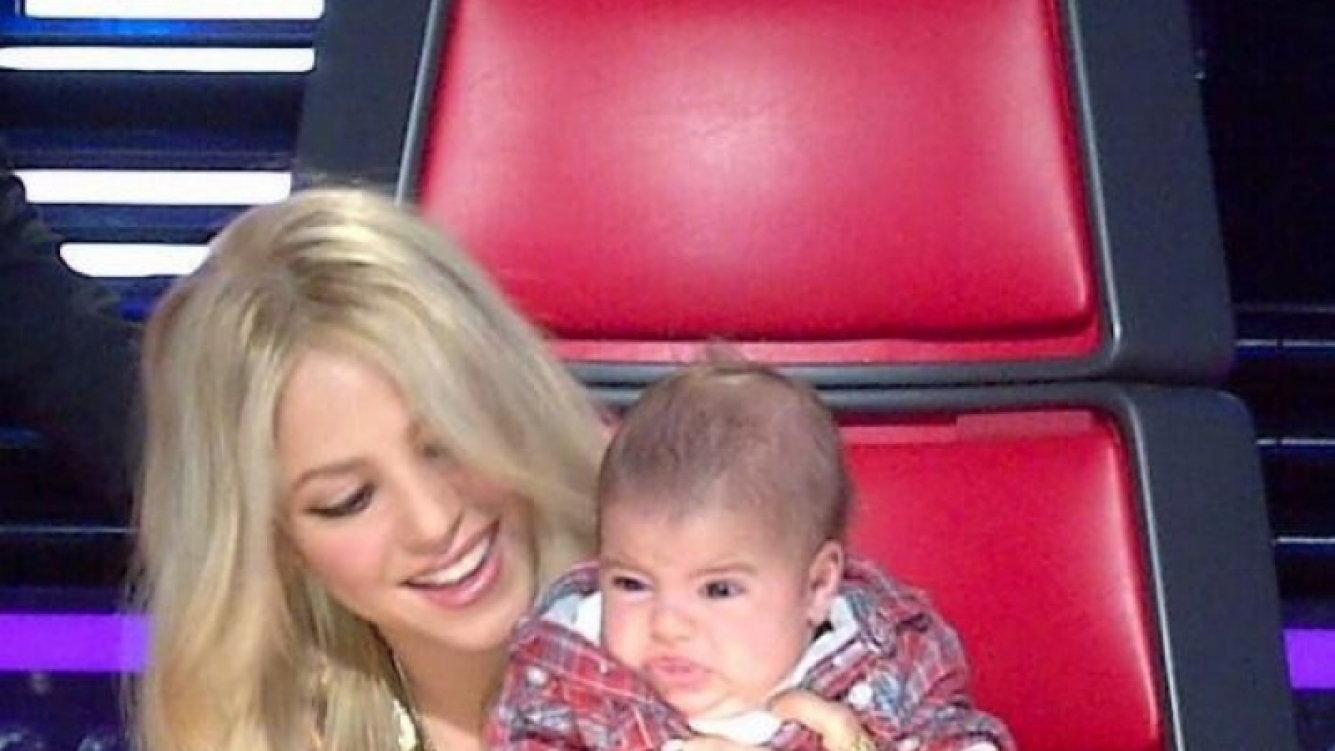 Shakira se divierte con Milan. (Foto: Twitter)