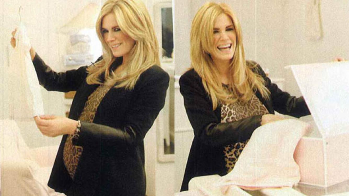 Viviana Canosa espera ansiosa la llegada de su hija. (Foto: revista Gente)