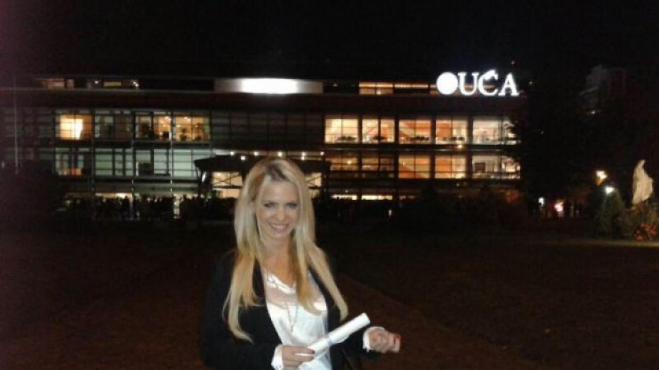 Alejandra Maglietti recibió su diploma de abogada. (Foto: gentileza Alejandra Maglietti)