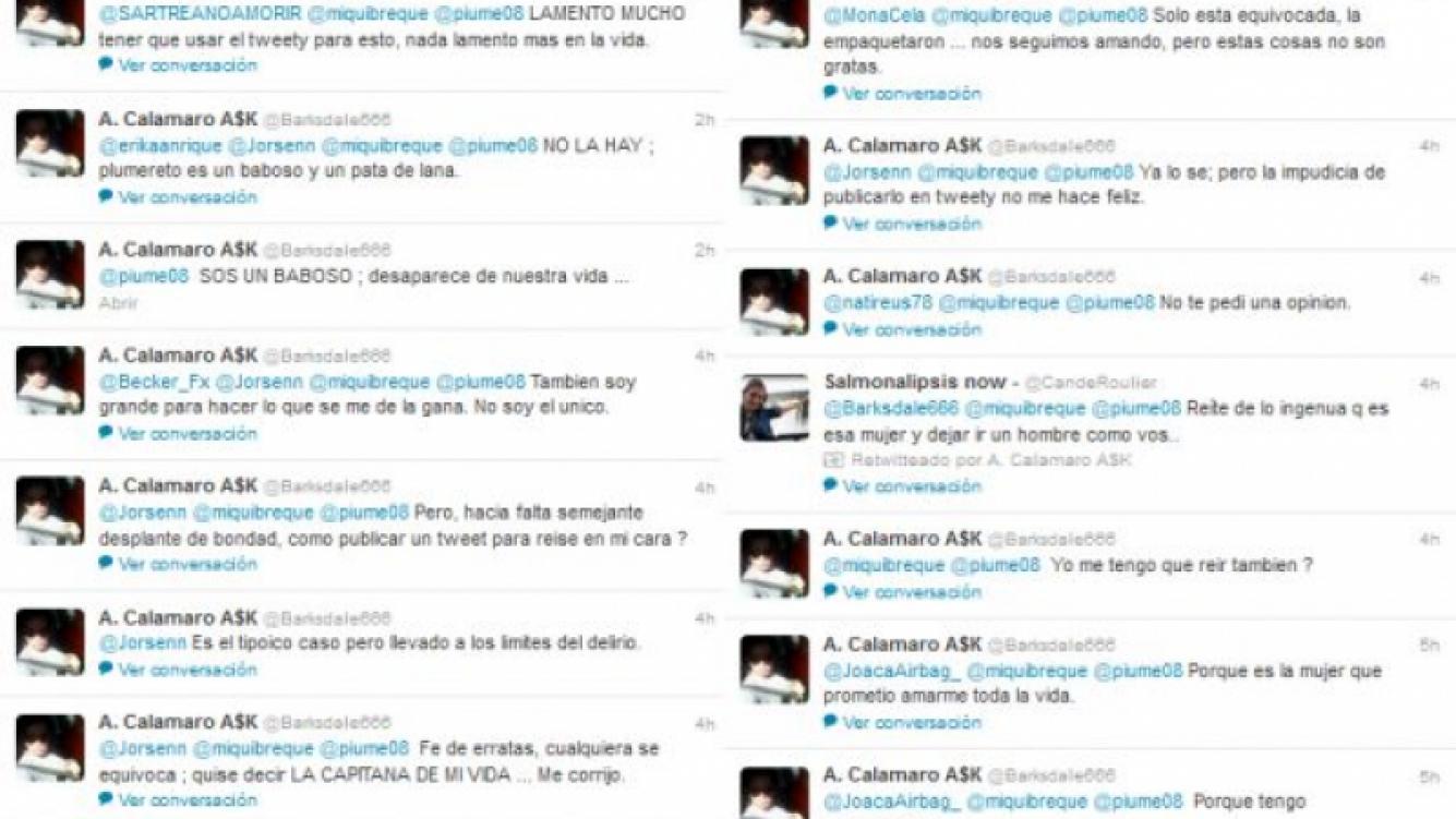 La incontinencia tuitera de Calamaro (Foto: Twitter).