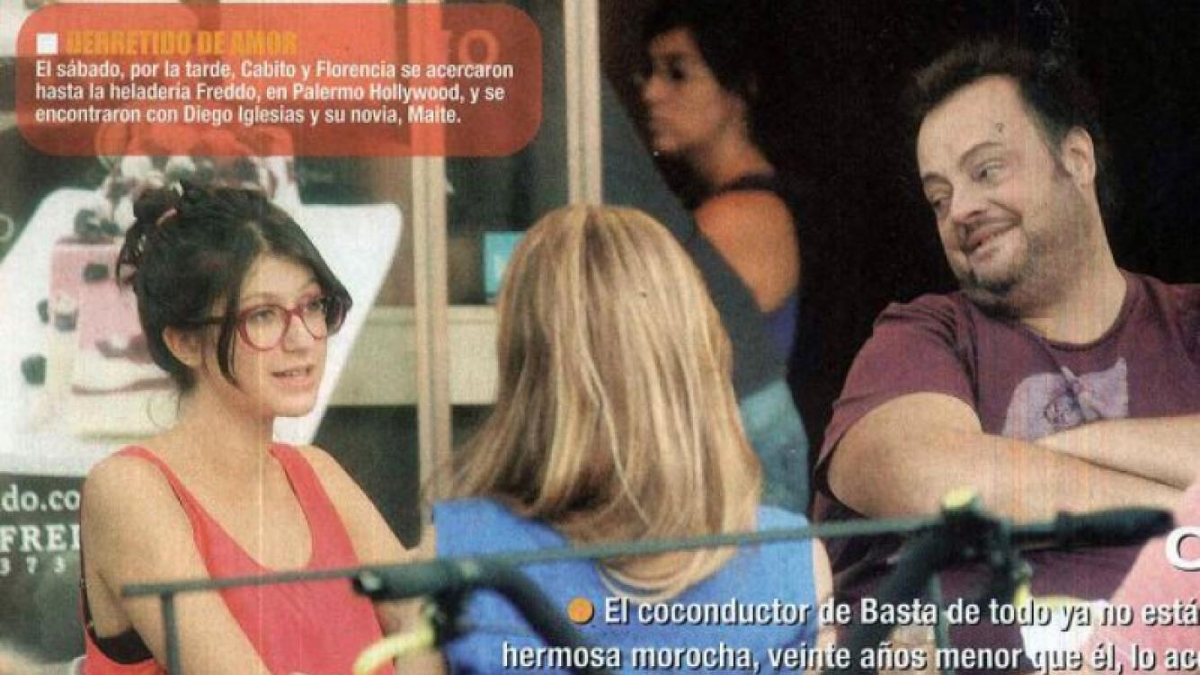 Cabito Massa Alcántara y Florencia. (Foto: revista Paparazzi)