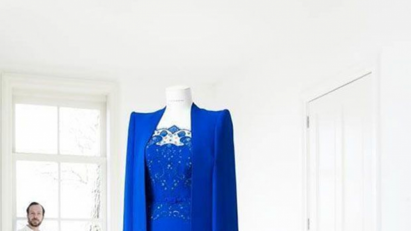 El impactante vestido azul que lució Máxima Zorreguieta (Foto:Web).