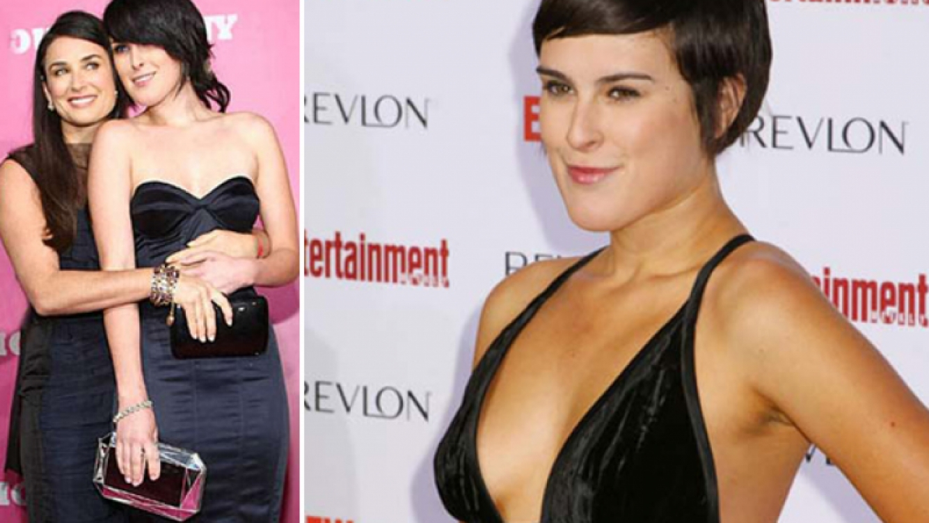 Demi Moore y su hija Rumer Willis. (Fotos: archivo Web)