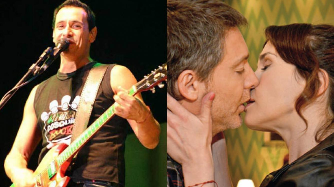 Natalia Oreiro contó cómo vivió Mollo el beso de ficción con Suar (Fotos: Web y El Trece).