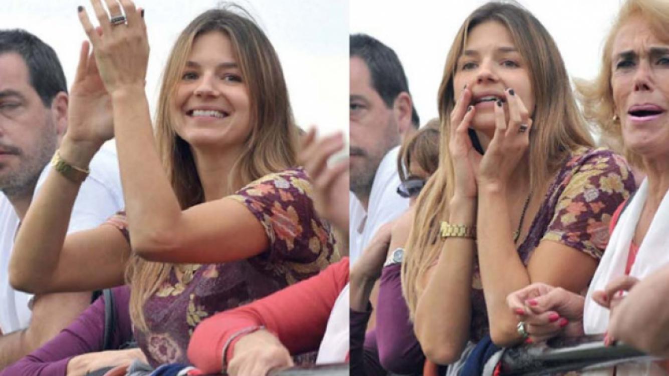 Marcela Kloosterboer, la fan número uno de su novio rugbier. (Foto: revista Gente)