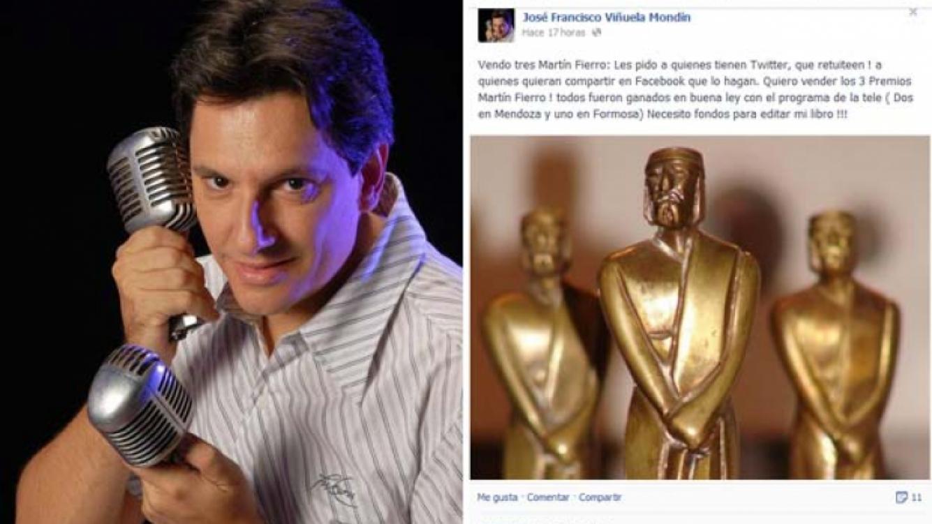 José Francisco Viñuela quiere vender sus estatuillas para editar su libro. (Foto: Facebook)