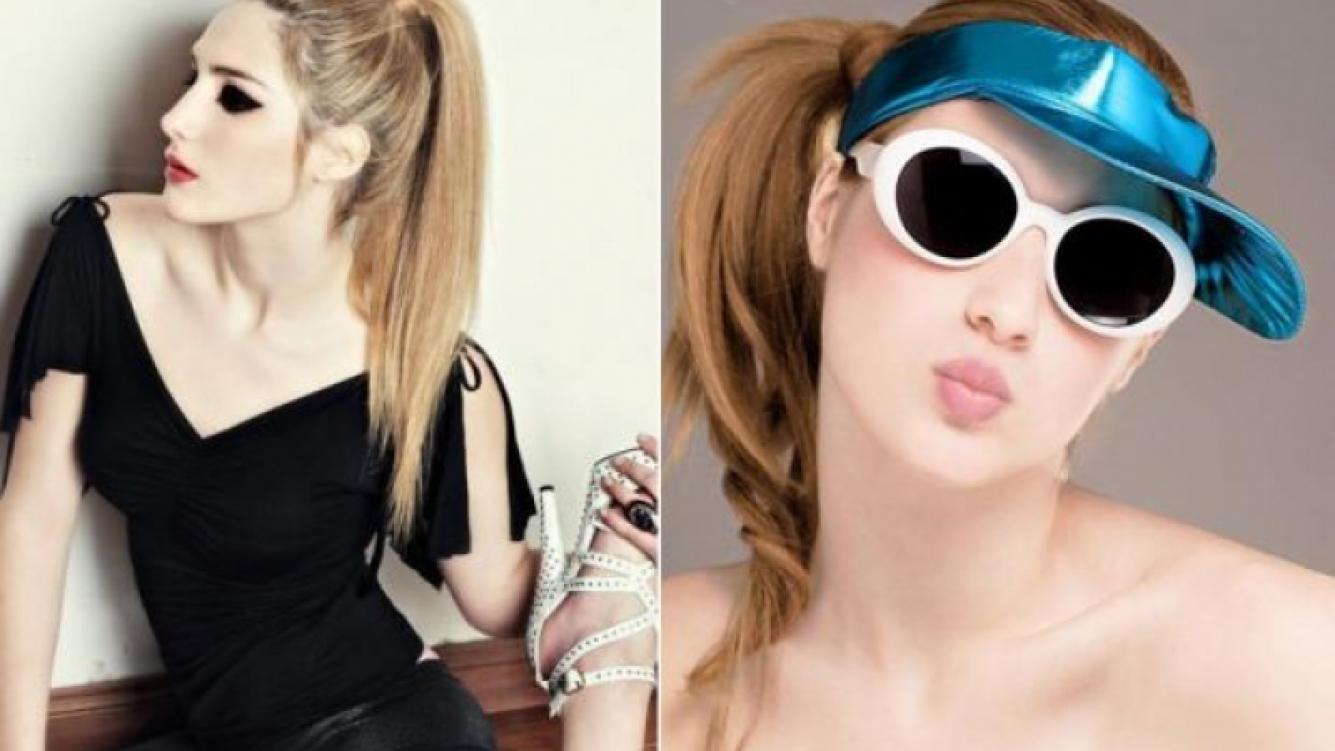 Azul Jaikin, la bella compañía de Iván Noble. Es modelo y tiene 20 años. (Fotos: Mibooker.com y Facebook)