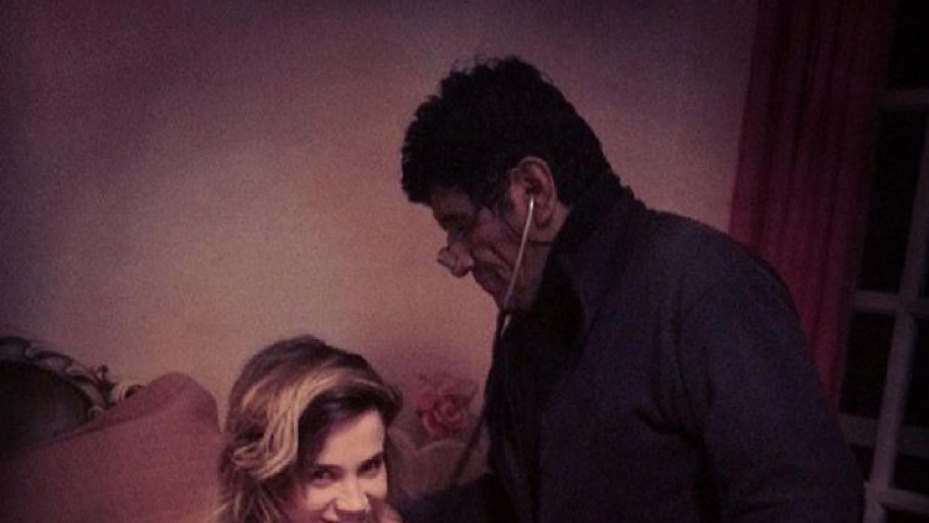 Celeste Cid, con el médico. (Foto: Instagram chanotb)