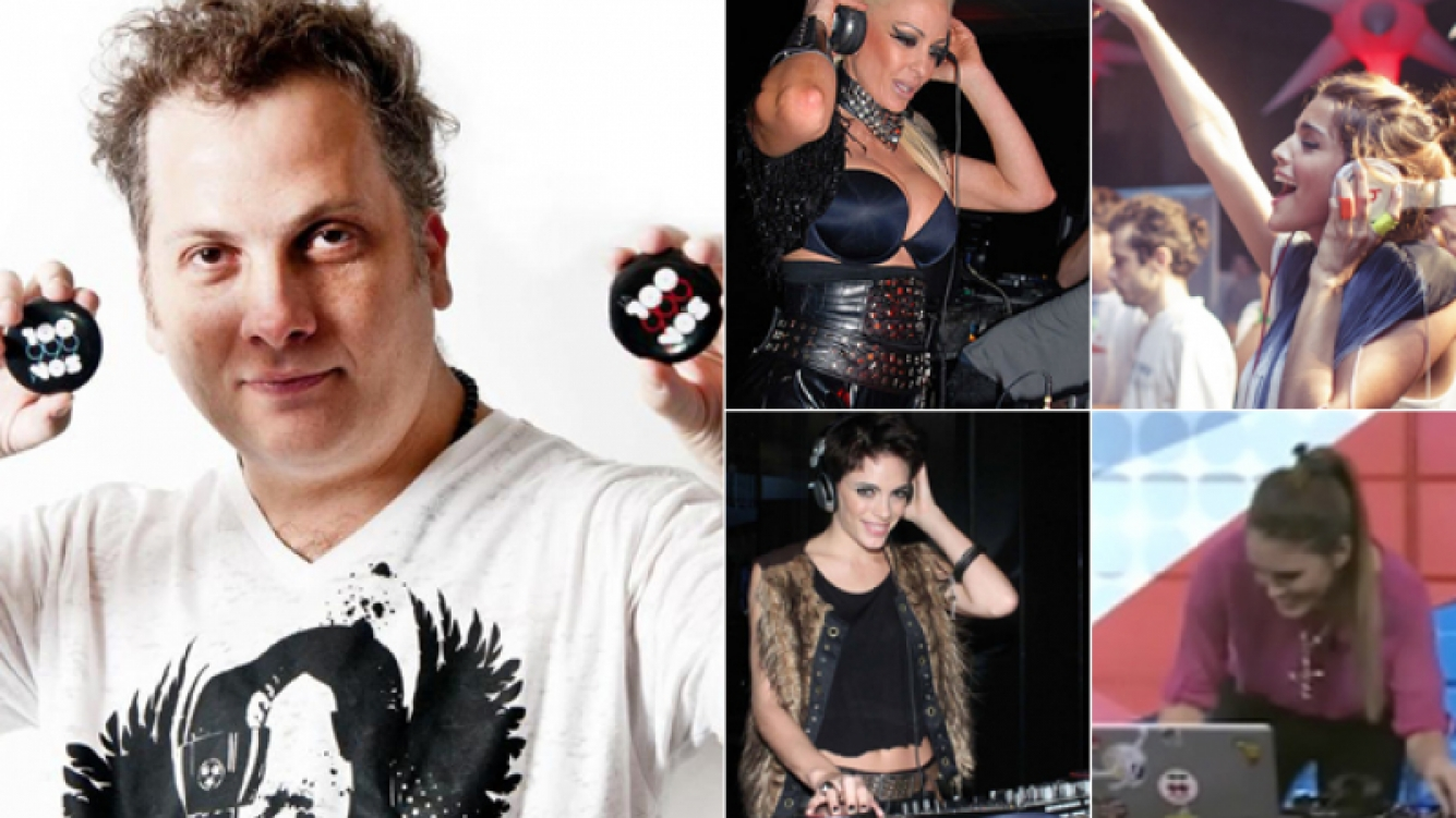 Izq: DJ Dero. Der: Daniela Cardone, Calu Rivero, Emilia Attias y Silvina Luna. (Fotos: Web)