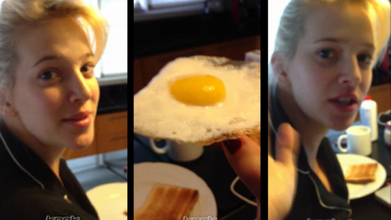 Luisana Lopilato y un súper comienzo de cumpleaños: ¡desayunando una tostada con huevo frito!