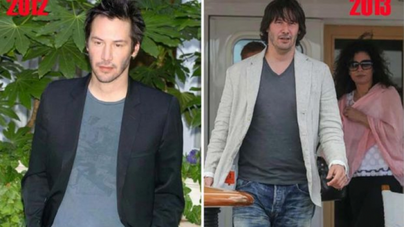 Keanu Reeves, antes y después del exceso de peso en Cannes. (Fotos: Web)