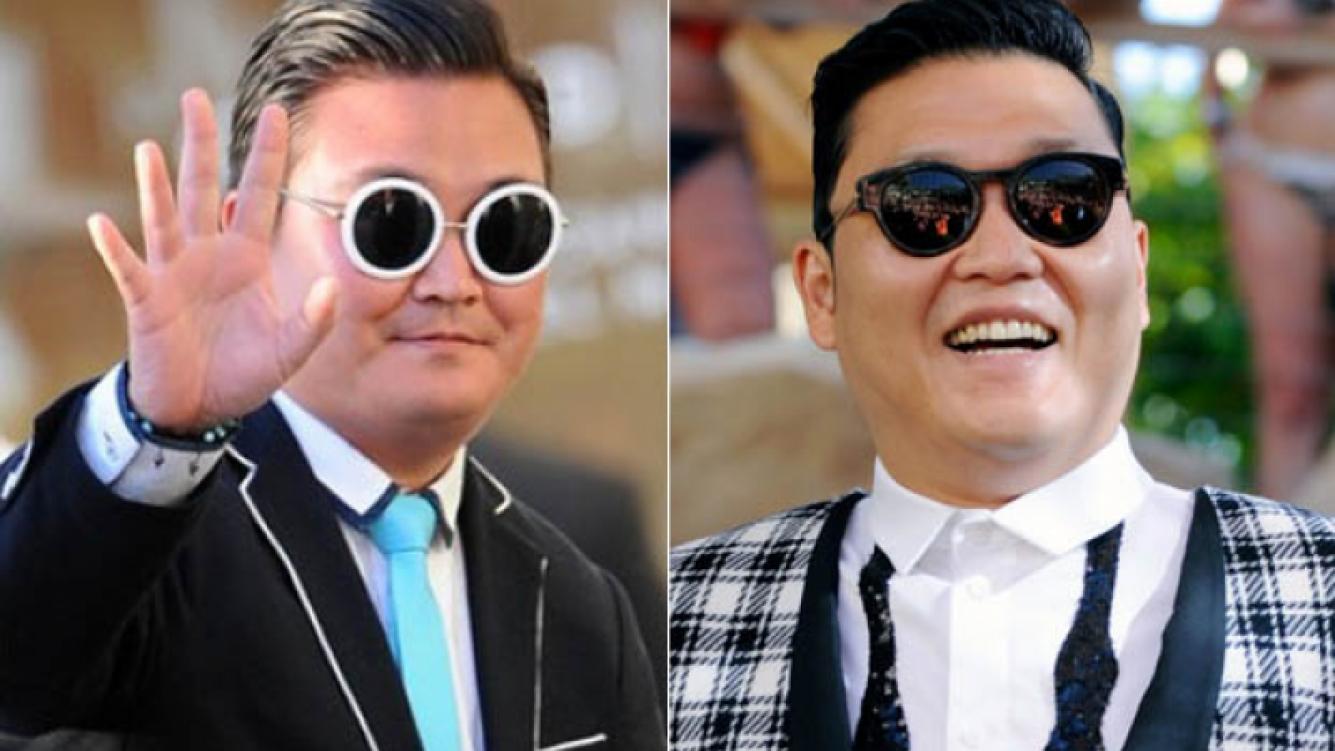 El falso Psy (izquierda) y el verdadero (derecha). (Foto: archivo Web)