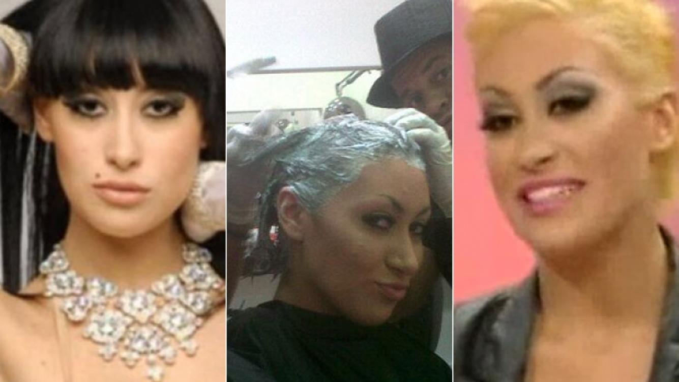Tamara Gala y su cambio de look. (Fotos: Web, Twitter y Captura TV)