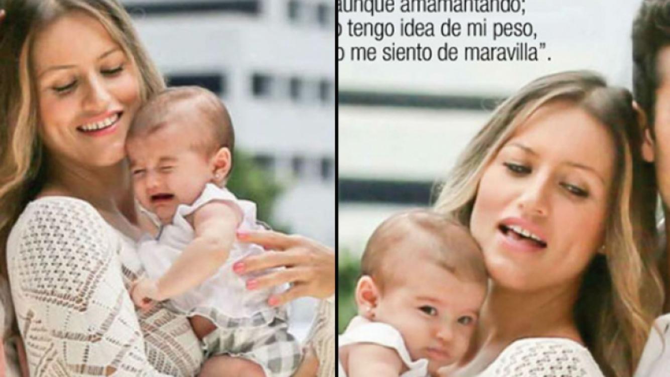 Erin, la pequeña hija de Lola y Aarón Díaz. (Foto: revista TV Notas)