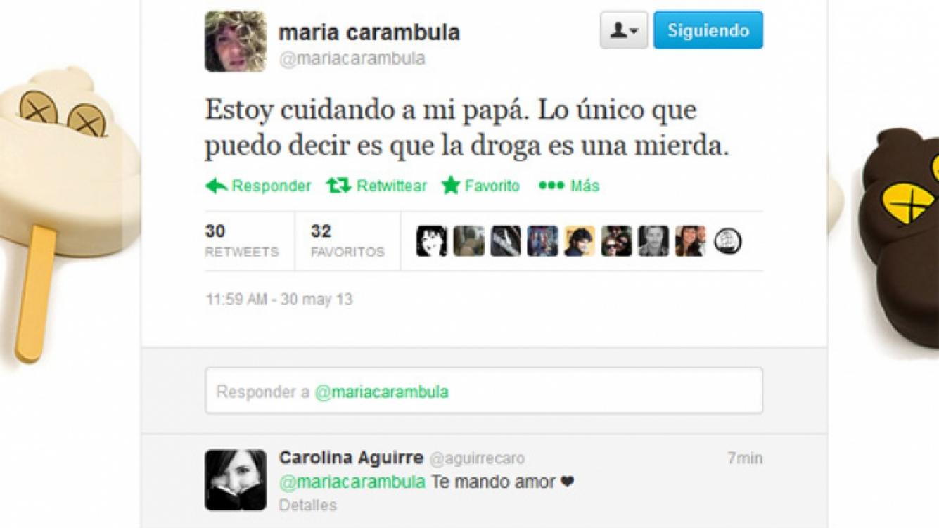 El tweet de María Carámbula.