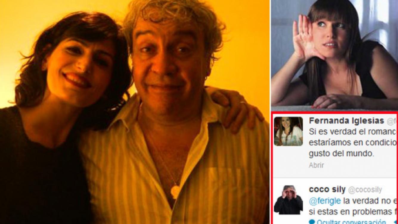 Cecilia Milone desmintió romance con Coco Sily. Y el humorista se cruzó con Fernanda Iglesias en Twitter. (Fotos: Twitter y Web)