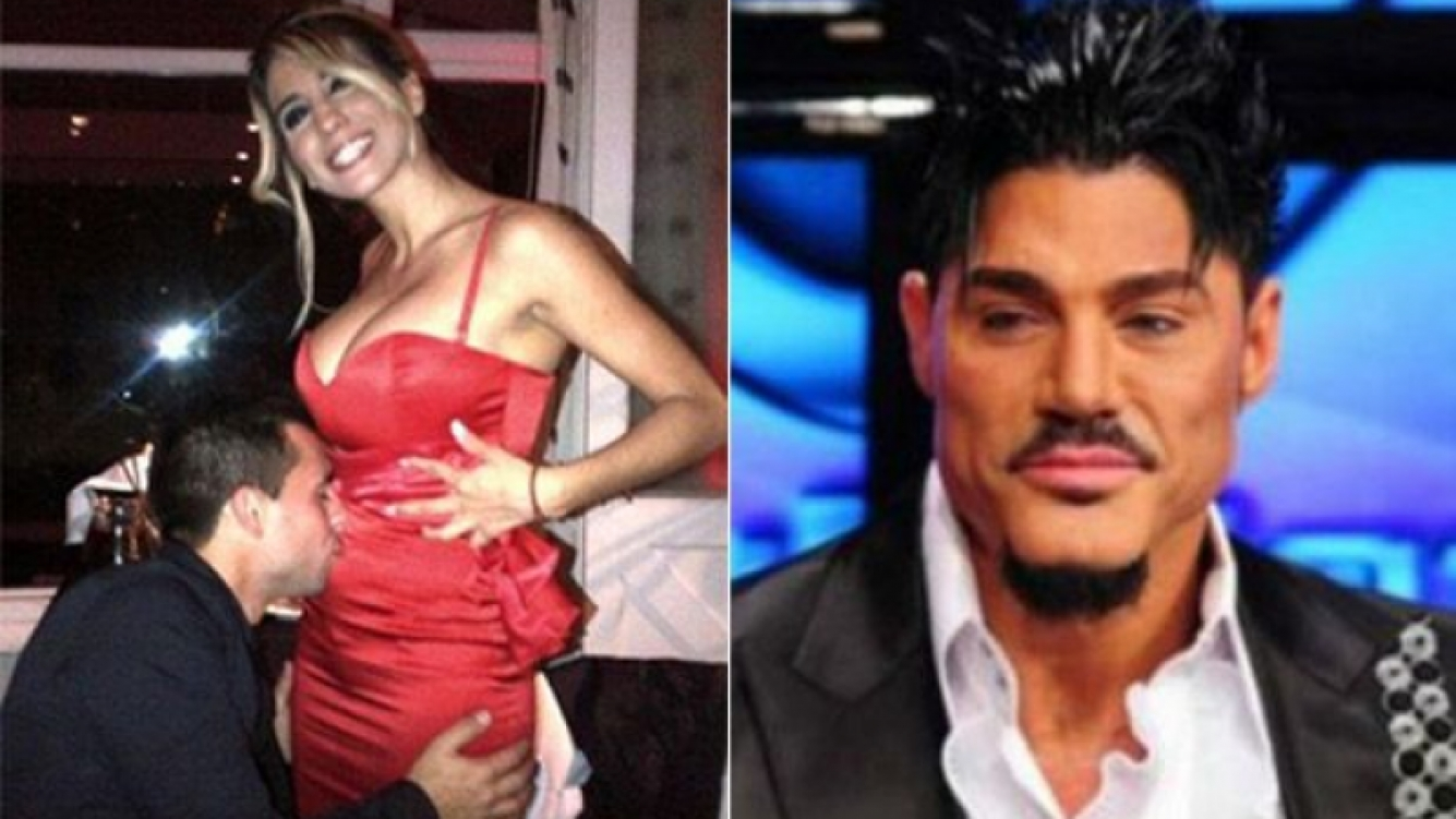 Cinthia Fernández espera gemelas y Ricardo Fort quiere darle chocolates. (Fotos: Twitter y Web)
