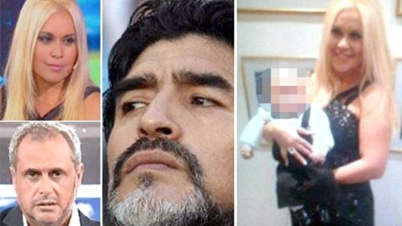 Ojeda y Rial ¿desoyen? la medida cautelar de Maradona: ambos publicaron fotos del bebé