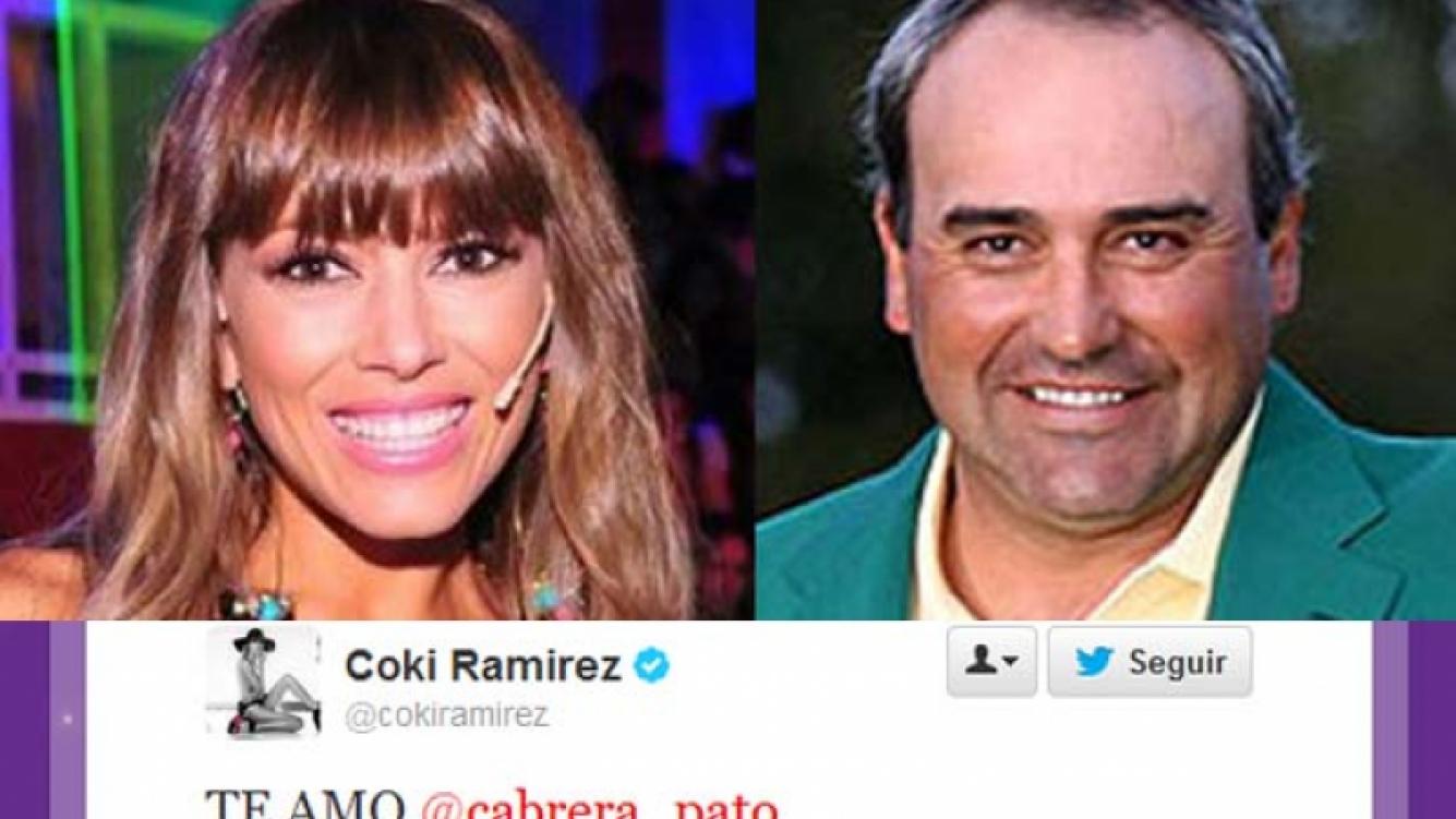 Coki Ramírez y Angel el Pato Cabrera, enamorados. (Fotos: Web)