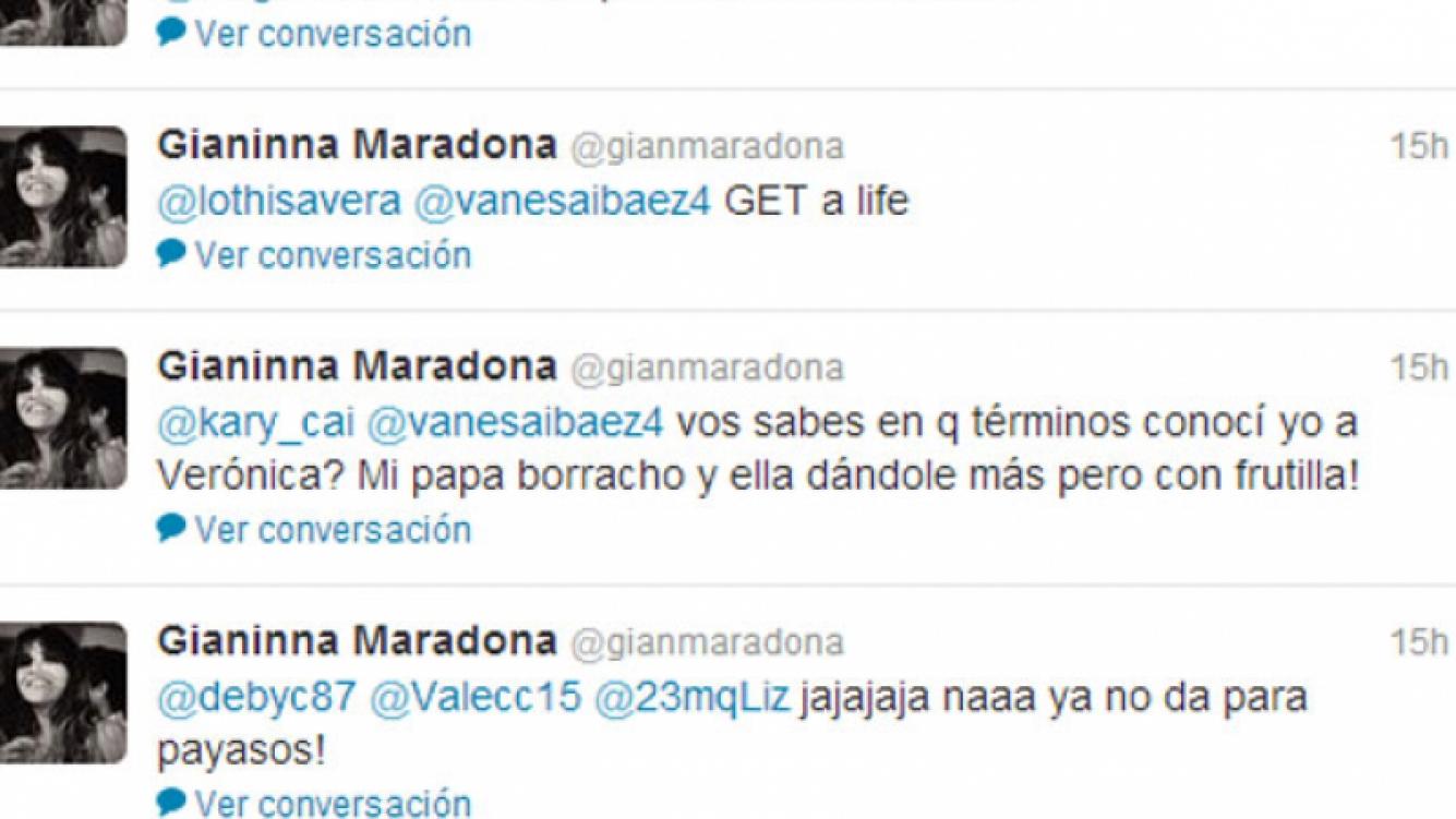 Los polémicos tweets de Gianinna Maradona (Foto: Captura).